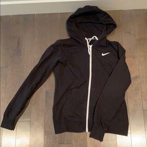 Black Nike Full-Zip Hooded Sweater